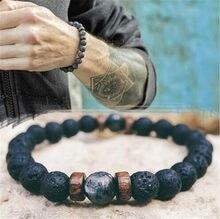 Bracelet en pierre de lune pour Hommes, bijou tibétain en perle bouddha, chakra, diffuseur, livraison directe