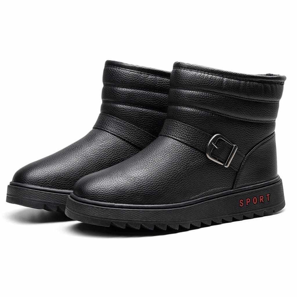 Açık erkek spor eğlence ayakkabı kar botları erkekler sıcak pamuk su geçirmez ayakkabı erkek büyük boy kış patik ботинки мужские