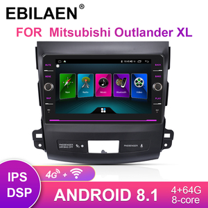EBILAEN Car DVD Multimedia player For Mitsubishi Outlander XL 2005-2014 2Din Android 8.1 Radio Navigation GPS Tape Recorder(China)