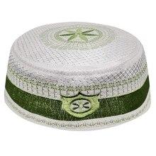 Uomini Cofano Musulmano Cappelli Verde Arabo Musulman Arabi Ebraica Kippah Kippot di Preghiera Hijab Caps Caps Islamico Abbigliamento Uomo