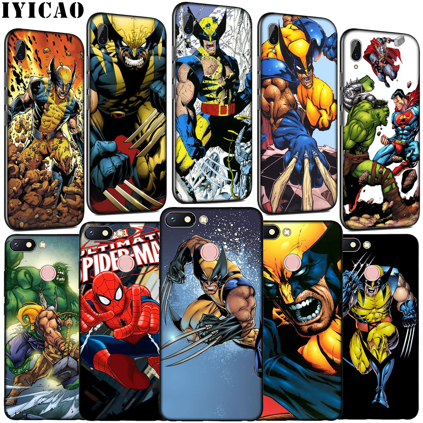 Thor Odinson Marvel Comics Wolverine Soft Silicone Phone Case for Xiaomi Redmi K20 GO 8A 7A 6A 5A 4A 4X Note 8 7 6 Pro 5 Plus image