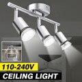 Современный потолочный светильник  3 головки GU10  Купольные ночные светильники с несколькими стержнями  100-240 В  лофт  домашний декор  светильн...