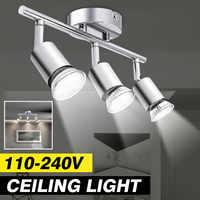 Modern Ceiling Light Lamp 3 GU10 Heads Multiple Rod Dome Night Lamps 100-240V Loft Lamp Home Decor Lighting Holder Fixture