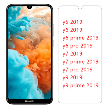tempered glass for huawei y5 y6 y7 y9 prime pro 2019 protective glas on y 5 6 7 9 5y 6y 7y 9y y52019 y62019 screen protector 9h image