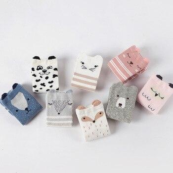 Calcetines de bebé 0-6 años bebé rodilla altura NIÑOS Calcetines antideslizantes punto goma tridimensional calcetines para niños con dibujos animados encantador