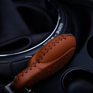 Image 3 - Leather key case Car keychain cover For BMW MINI COOPER S ONE JCW F54 F55 F56 F57 F60 CLUBMAN COUNTRYMAN car styling accessories