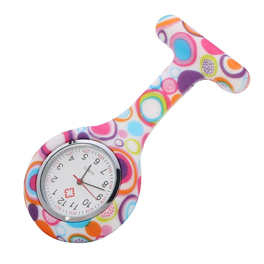 Clip-on Nurses Silicone  Watch Infection Control Hygienic  Pin Fob Brooch Pocket Watch For Women