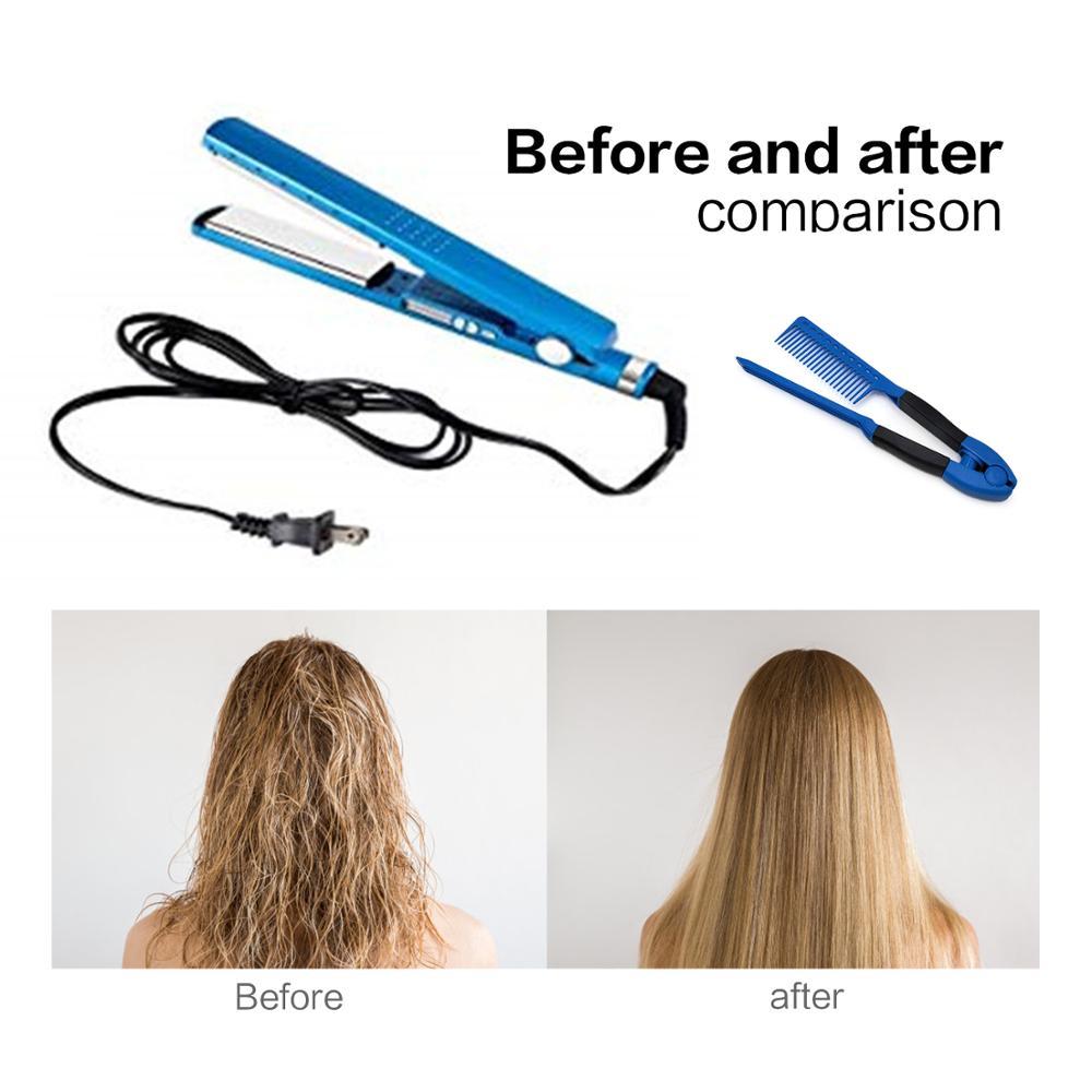 3 IN 1 Profession Nano Titanium Ceramic 11/4 Plates Hair Straightener Flat Iron Set Salon Styling Hair Straightening Tools
