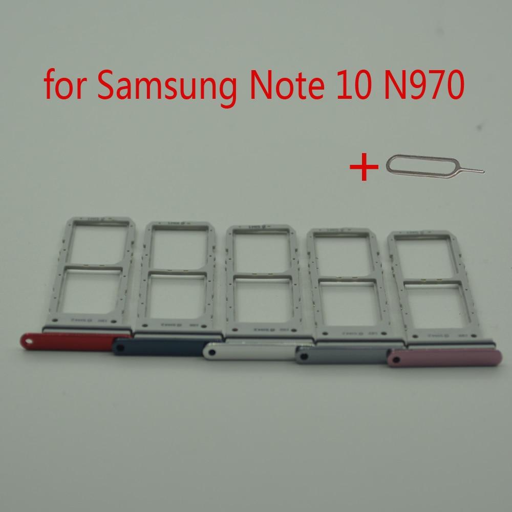 Sim Card Tray For Samsung Note 10 N970 Galaxy Note10 N970F N970U Original Phone Housing SIM Micro SD Card Holder Slot Adapter