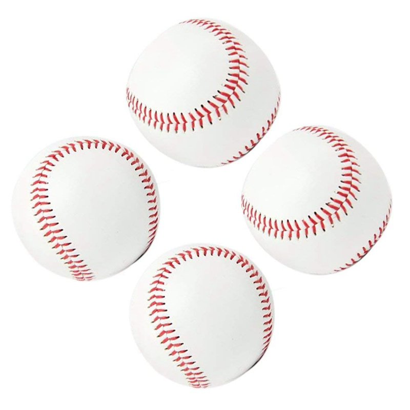 Practice Baseballs, Reduced Impact Safety Baseballs, Standard 9 Inch Adult Youth Leather Covered Soft Balls Team Game Competitio