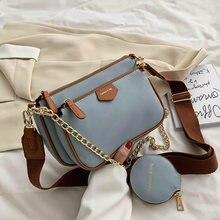 Sac à bandoulière 3 en 1 pour femmes, sac à main de luxe décontracté, sac de styliste avec Mini poche, marque de luxe, sacoche à épaule