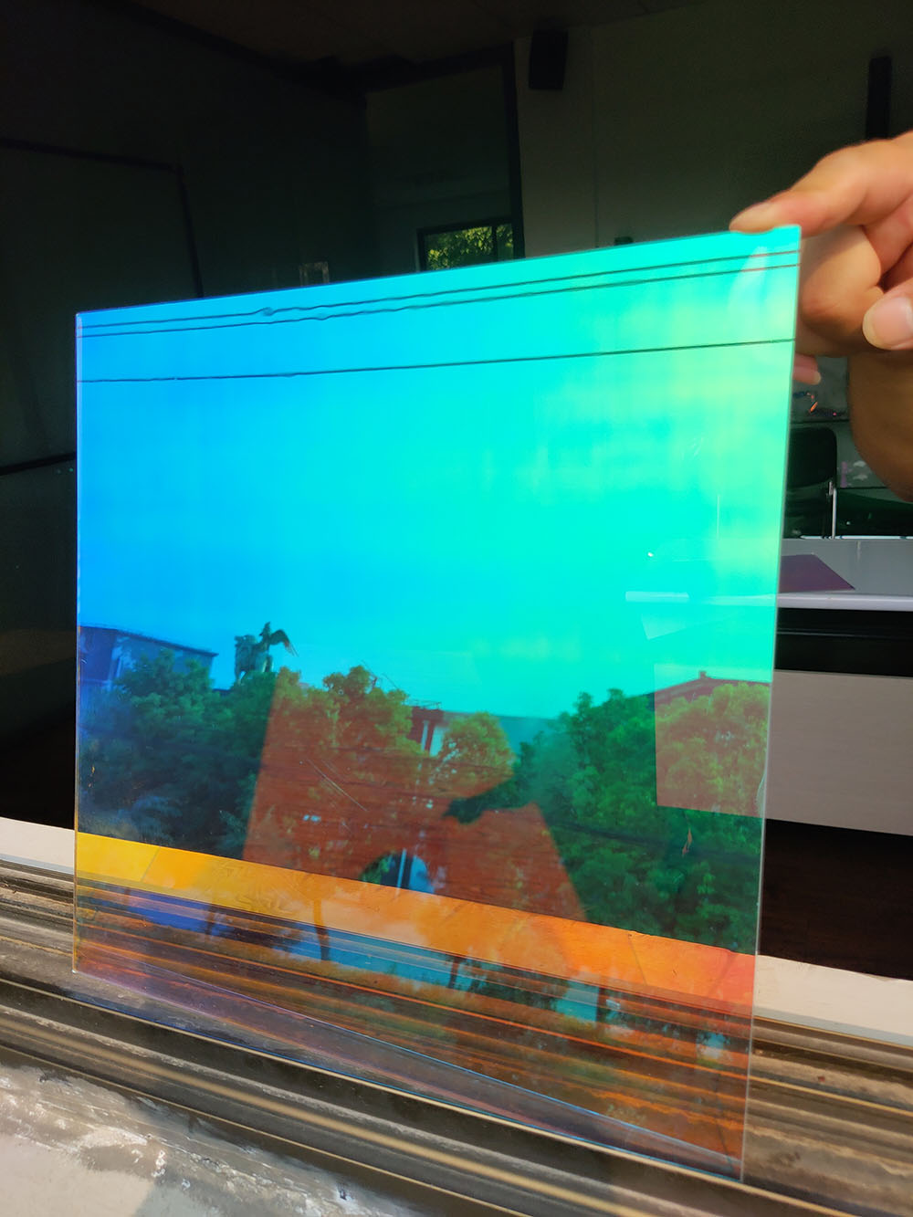 Sunice Dichroic Window Film Solar Tint DIY Decorative Window Glass Sticker Self Adhesive Rainbow Solar Tint Film 90x300cm