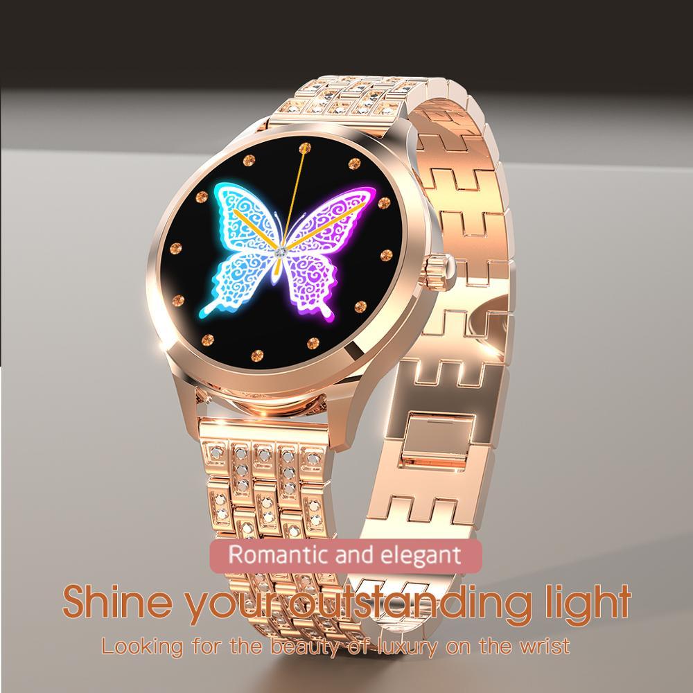 LEMFO LW07 Smart Watch Women 2020 DIY Watch Face Colorful TFT Screen Health Monitoring Smartwatch Ladies