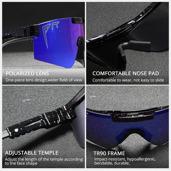 Pit Viper Cool Mirror Polarized Sunglasses Men TR90 Anti Resistance Safety Goggle Women Overized Shades With Free Box 2