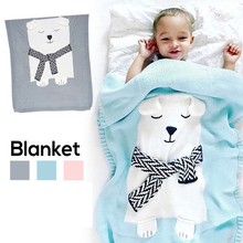 все цены на Handmade Knitted Blankets Warm Winter Sofa Bed air conditioning Home Decor Throws Blankets for baby kids gift blanket онлайн