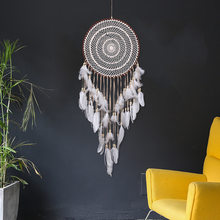 Dream Catcher Original Big Hook Flower Dream Net Northern European Feather Hanging Art Gift Creative Best Friend Dream Net Gift(China)
