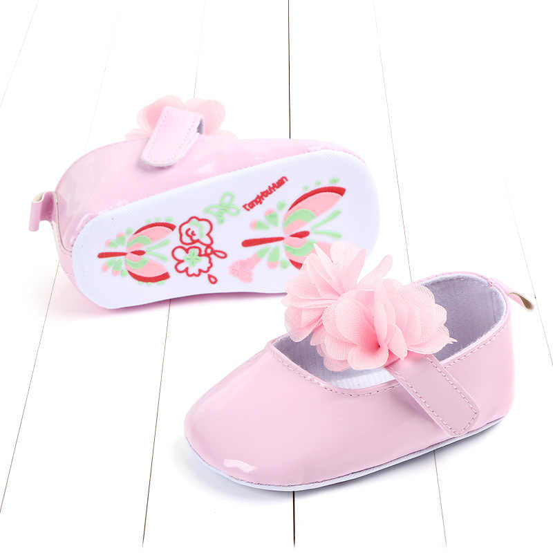 רך עור מפוצל יילוד פעוטות תינוקת נעליים חמוד פרח נסיכת נעלי תינוק עריסה נעליים