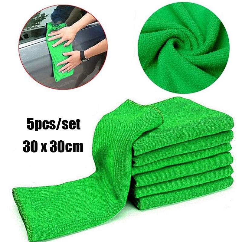 5pcs/set 30 x 30 cm New Cloths Cleaning Duster Microfiber Car Wash Towel Auto Care Tools