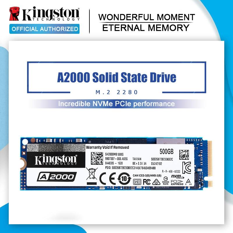 Kingston – disque dur interne SSD A2000 NVMe, SATA, SFF, 2280 pouces, avec capacité de 120 go, 240 go, 480 go, 960 go, pour PC portable, Ultrabook