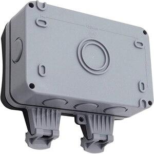 Image 3 - Presa a muro elettrica impermeabile esterno 13Amp Storm commutato 2 Gang UK IP66 uso esterno prese doppie Masterplug