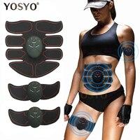 Massageador abdominal elétrico sem fio  tratamento de pulso EMS inteligente fitness para barriga tanquinho