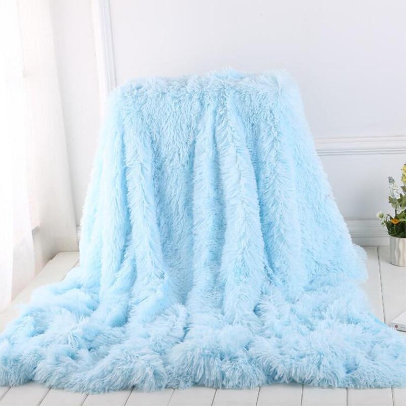 Shaggy Super Soft Coral Fleece Blanket Warm Cozy Bedding Blanket Fluffy Sofa Bedding Airplane Hotel Throw Sofa Blanket New-3