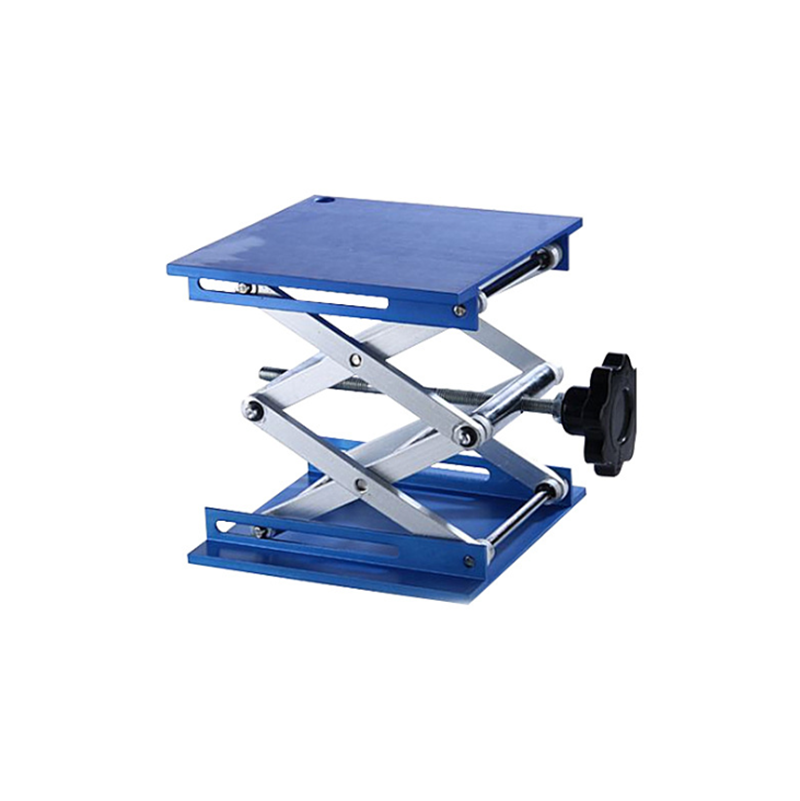 100x100x150mm Aluminum Router Lift Table Lifting Stand Rack Lift Platform Blue