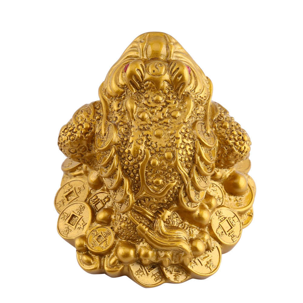 פנג שואי קרפדת כסף מזל מזל עושר סיני קרפדת מטבע בית משרד קישוט שולחן קישוטי מזל מתנות