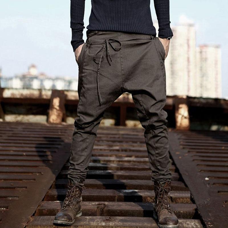 Bigsweety  Long Pants Men Pants Hip Hop Harem Casual Pants Male Trousers Mens Loose Solid Color Pocket Pants Sweatpants