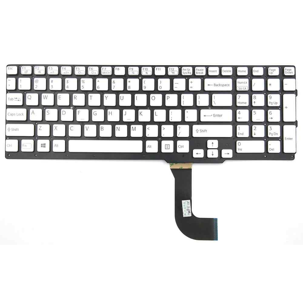 Новый для sony VAIO SVS15125CXB SVS15125CXW SVS15126PA SVS15126PAB SVS15126PG SVS15126PGB Клавиатура ноутбука США серебро