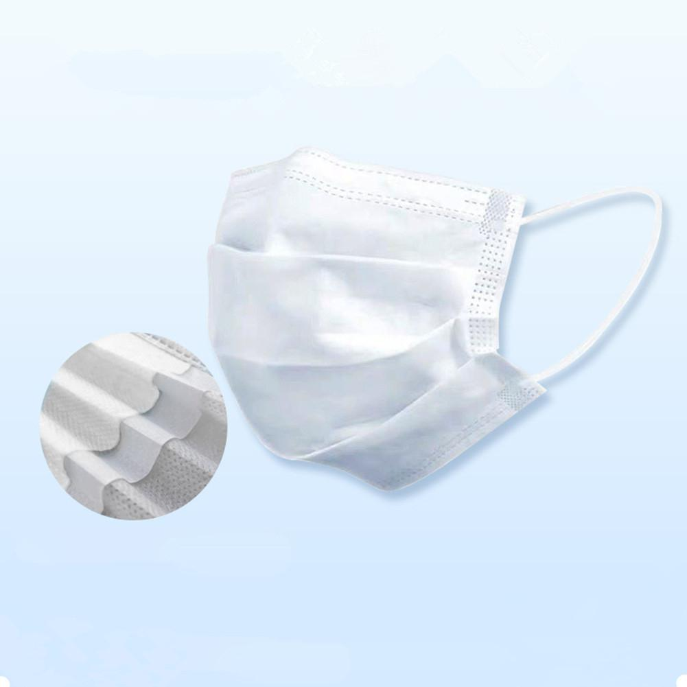 50Pcs/Box Disposable Non-woven Mask White Three-layer Folding Protective Mask Kids Boy Infant Protection Mask