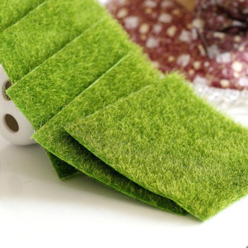 1pcs Miniature Dollhouse Mitation Accessories Fake Moss Garden Toy Furniture Courtyard Artificial Green Grass Toys For Children