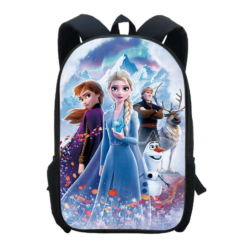 Disney's New Cartoon Frozen 2 Schoolbag Primary And Secondary School Students Backpack Girls Casual Anime Cartoon Backpack