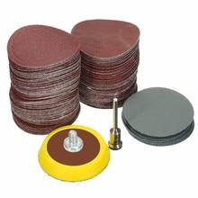 Hook Backer-Plate Sandpaper Polishing Abrasives 100pcs Shank 1/8inch Loop Mixed