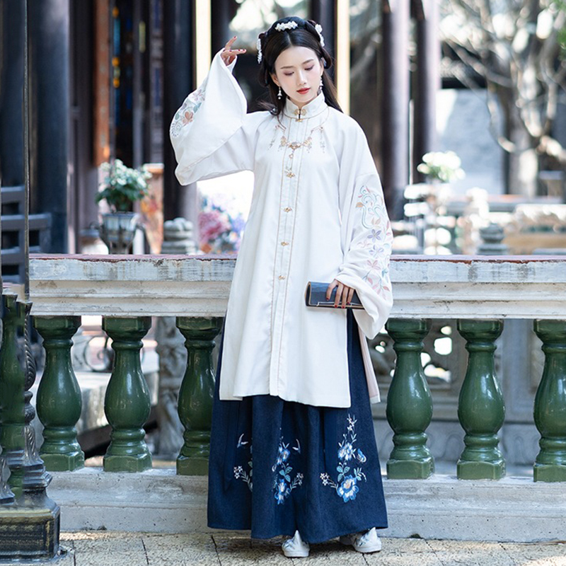 Classical Dance Costume Hanfu Women Traditional Festival Outfit Singer Rave Performance Clothes Ming Dynasty Fairy Dress DF1391