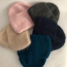 Повседневные новые зимние шапки однотонные из кроличьего меха