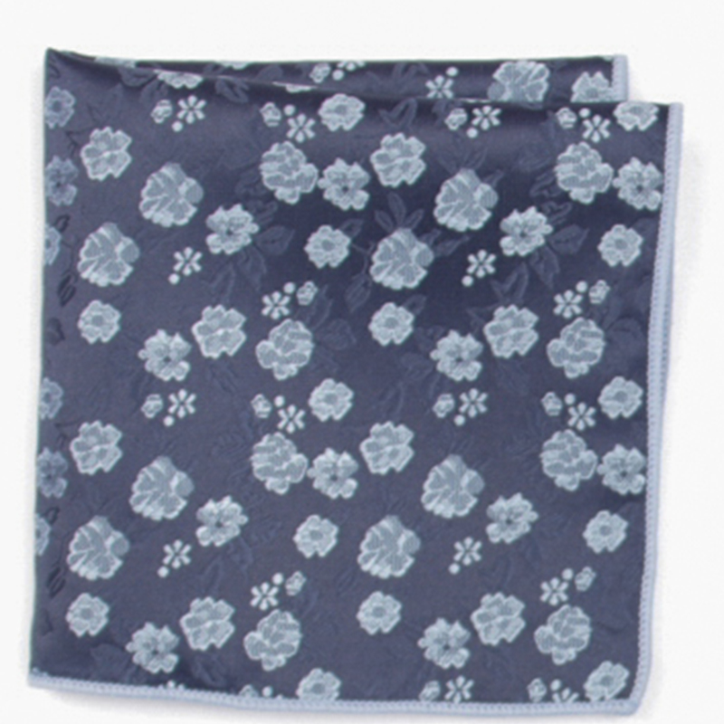 2019 Fashion Navy Patterned Pocket Square With Patterns Handkerchief