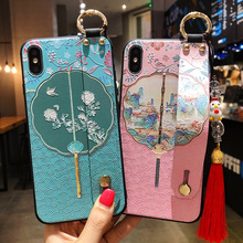 Funny Case Phone-Holder-Cover iPhone for 12-Pro Fan Wrist-Strap Group TPU 8-Plus 7