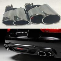 A7 Wald Style Exhaust Tips Muffler Pipe For Audi A7 S7 RS7 Sline 2011-2015 DHL Free Shipping
