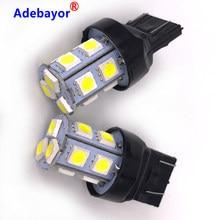 1x7443 t20 LED 5050 LED 13 lampa SMD samochód stop żarówka auto pojazdy parking światło cofania i kierunku ogon światła do jazdy dziennej biały