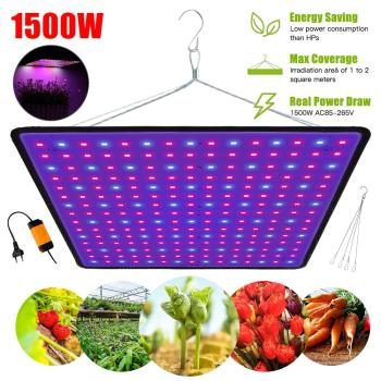 1500W Full Spectrum Indoor LED Grow Lamp For Plant Growing Light Tent Fitolampy Phyto UV IR Red Blue 225 Led Flower Seed