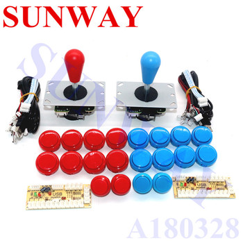 Arcade Joystick DIY Kit Zero Delay Arcade DIY Kit USB Encoder To PC Arcade Sanwa Joystick + Sanwa Push Buttons For Arcade Mame фото