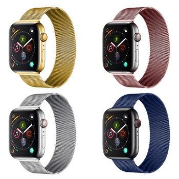 цена на Milanese Loop strap for apple watch band apple watch 4 5 3 42mm 44mm 38mm 40mm watchband iwatch 5 Stainless steel Bracelet belt
