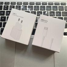 Original 20w carregador rápido para iphone 12 pro max mini USB-C c2l carregador usb c adaptador de alimentação tipo c qc4.0 para apple 2m cabo 11 xs