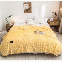 ADOREHOUSE – couverture de lit à carreaux doux en flanelle, couvre-lit de canapé en peluche, literie d'hiver chaude, décoration de maison