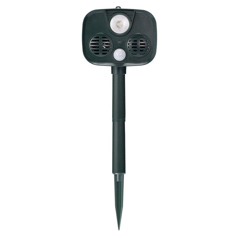 Solar Bird Repeller Ultrasonic Repeller Animal Blaster Garden Cat Dog Pest Animal Repeller PIR Scarer Deterrent