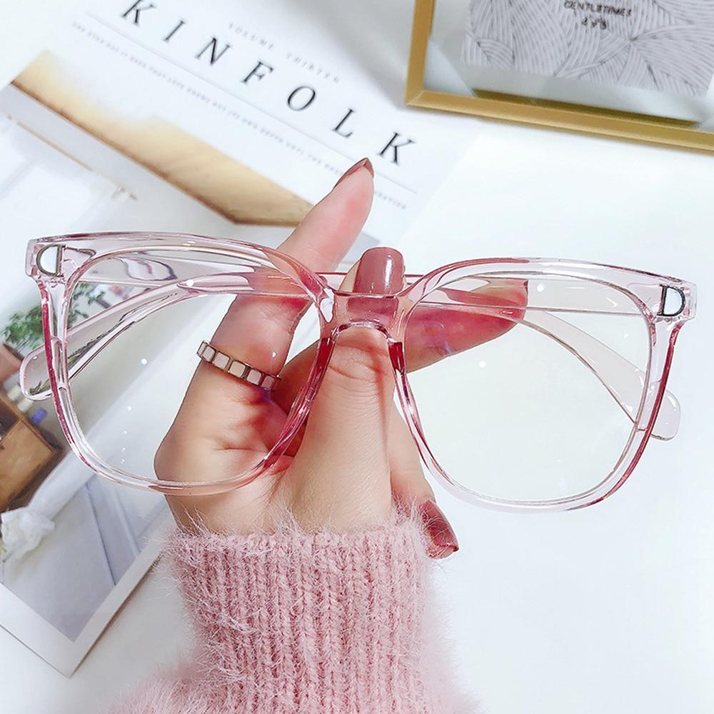 Mode Anti-Blau Licht Gläser Frauen Männer Vintage Ultra Licht Polygon Rahmen Auge Schutz Vision Care Computer Brillen