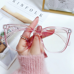 Fashion Anti-Blue Light Glasses Women Men Vintage Ultra Light Polygon Frame Eye Protection Vision Care Computer Eyeglasses