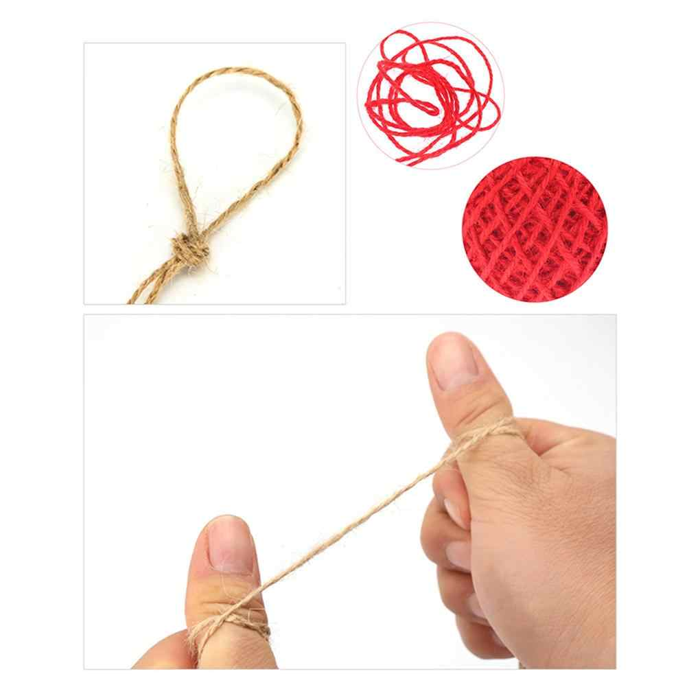 1 rolka kolorowe DIY instrukcja powieść konopie sznurek sznurek linowy pudełko przewód tagi ślubne dekoracje dekoracyjne do pakowania