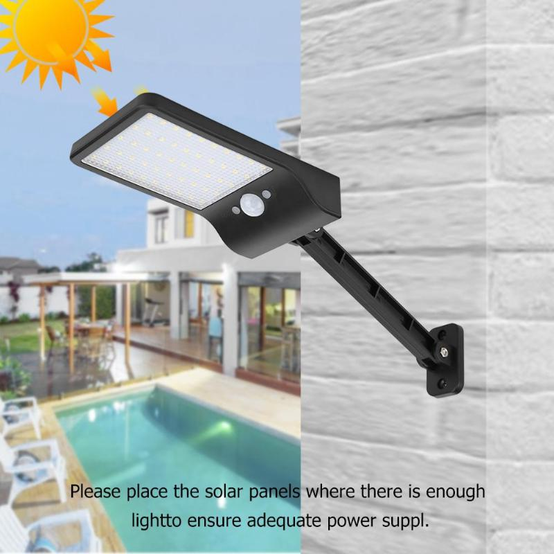 50 LED Remote Control Solar Light PIR Motion Sensor IP65 Outdoor Wall Street Lamp Waterproof Lamp Wall Lights